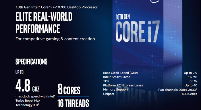 cpu intel core i7 10700 rtx 2060