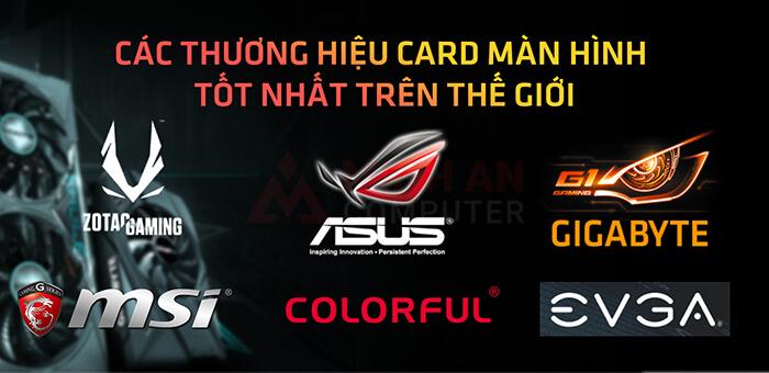 top thương hiệu card màn hình