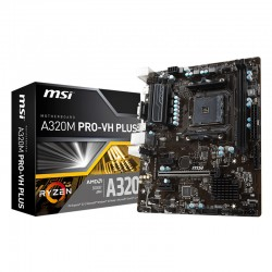 Mainboard MSI A320M PRO-VH PLUS M2 (AMD A320, AM4, M-ATX, 2 khe RAM DDR4)