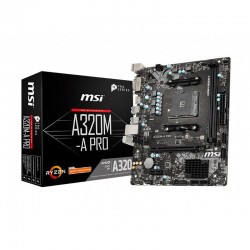 Mainboard MSI A320M-A PRO (AMD A320, Socket AM4, m-ATX, 2 khe RAM DDR4)