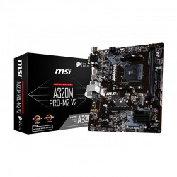 Mainboard MSI A320M PRO-M2 V2 (AMD A320, Socket AM4, m-ATX, 2 khe RAM DDR4)