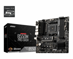 Mainboard MSI B550M PRO-DASH (AMD B550, Socket AM4, m-ATX, 4 khe RAM DRR4)