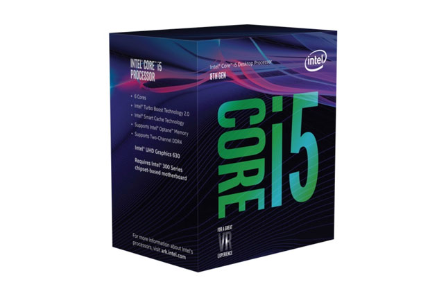 CPU Intel® Core™ i5-8400/ 6cores/ 12 threads/ 2.8GHz up to 4.0 GHz/ 8M