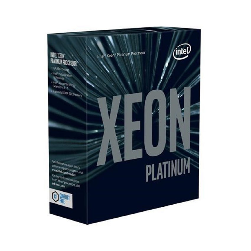CPU Intel Xeon Platinum 8280 (2.7GHz turbo up to 4.0GHz, 28 nhân 56 luồng, 38.5MB Cache, 205W) - Socket Intel LGA 3647