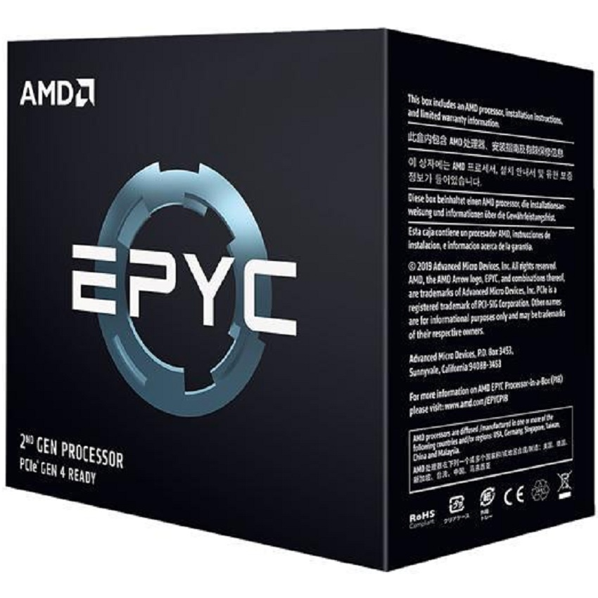 CPU AMD EPYC 7F32 (3.7GHz up to 3.9GHz, 8 nhân, 16 luồng, 128MB, 180W) - Socket SP3